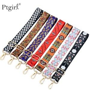 Borse nylon colorato Belt Strap accessori per le donne dell'arcobaleno regolabile A spalla gancio della borsa cinghie Ptgirl cinghie di ricambio
