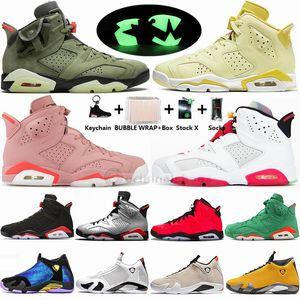 Nike Air Jordan New Floral AleAli mai Hare Travis Scotts Green 6 6s Mens Basketball Chaussures Noir infrarouge Cat 14s DB Doernbecher Noir Toe Sport Chaussures
