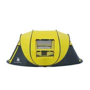 HLY Большого бросок палатка! Открытый 3-4persons автоматической скорость открыть метание всплывало ветрозащитное водонепроницаемая пляж кемпинг палаточного большого пространства