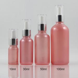 botellas de vidrio gotero de aceite 30ml botella cosmética suero esencia 100pcs / lot envase de relleno, botellas de aceite de la cara de color rosa