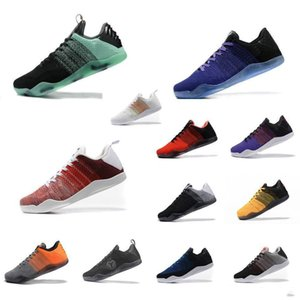 Mens ZK Mamba 11 elite low basketball shoes retro new Christmas Green FTB White Black KB11 Kyrie sneakers tennis with box