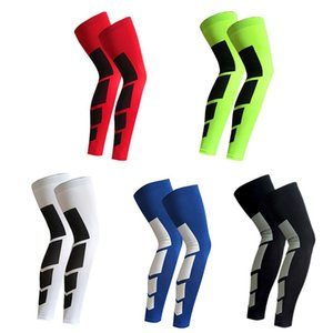 Cycling Legwarmers 1 Pc Outdoor Sports Cycling Leg Knee Long Sleeve Protector Gear Crashproof Antislip Compression Sleeve ST