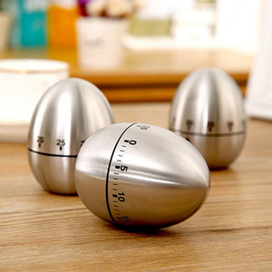 Stainless Steel Egg Kettle Timer 1-60 Minute Mechanical Reminder Household Countdown Timers Kitchen Cooking Baking Tool HHA763