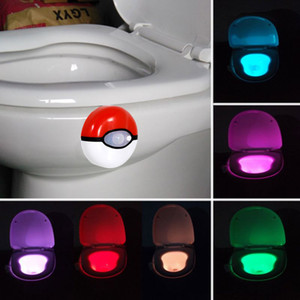 Toilet night light sports LED light 8-color washable toilet bathtub lamp suitable for bathroom without perfect decoration and faucet light