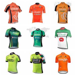 EUROPCRA Euskadi EUSKALTEL team su misura Ciclismo maniche corte jersey moda Maglie per biciclette morbide e leggere 54019