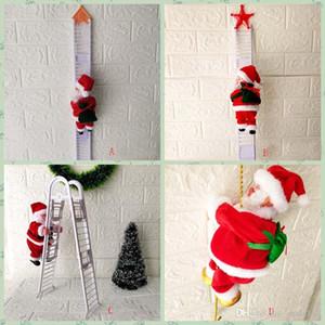 Santa bonito Eléctrico de Natal Claus Detalhes no Papai Noel Crianças elétrica brinquedos de Papai Noel brinquedos subir escadas Partido HH9-2613