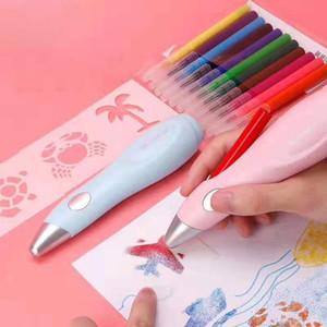 montão Multi função Pen Tenwin Art elétrica spray Pen Airbrush Set Multi-função de Cor Inkjet da pintura da escova lavável pintura em spray Han ...