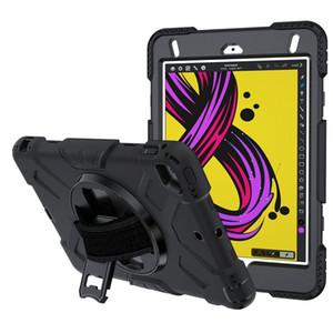Defensor robusta armadura cubierta de la caja de la tableta para Ipad Mini 1 2 3 4 5 Con la correa de soporte de la mano de la piel a prueba de golpes pata de cabra Shell