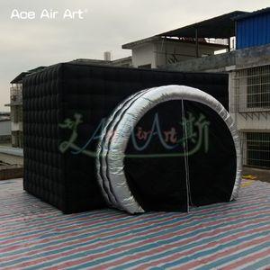 Personalizado cameral em forma de foto cabine inflável cenário da foto, dossel selfie, estação de fotos para a festa e casamento