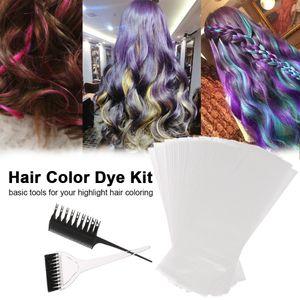 Cheveux Color Color Kit Kit Professionnel Cheveux Colorant Coloration Soulinage Outil Couleur Couleur Couleur Applicateur Applicateur Tint Brosse Papier Dye Ensemble de papier