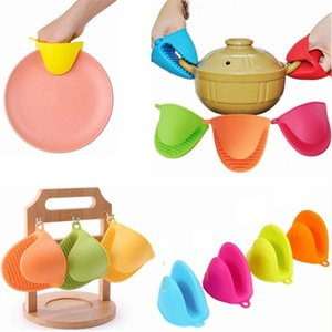 7 Colors Silicone Hand Grip Kitchen Products Heat Insulation And Anti-burn Hand Grip Non-slip Baking Oven Anti-scald Gloves T3I5851