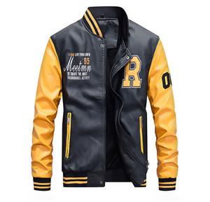 Homens Fashion Designer Jacket outono e inverno PU Leather Mens Casacos jaqueta casual Estilo Foe Masculino Outdoor Sports Vestuário Jacket