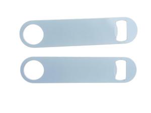 Yeni Süblimasyon Boş Beyaz Şişe Açacağı Sarf Malzemeleri Sıcak Transfer Baskı Paslanmaz Çelik Boş Malzeme 178 * 40 * 1.8mm