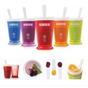Nuevo diseño de la nueva taza jugo de frutas Frutas Arena Ice Cream Shake Slush fabricante Slushy Batido Batido Copa de Verano Fácil