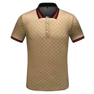 디자이너 남성 브랜드 폴로 티셔츠 패션 여름 옷 티셔츠 동물 꽃 사자 t- 셔츠 턴 다운 칼라 캐주얼 티 위에 머리 메두사