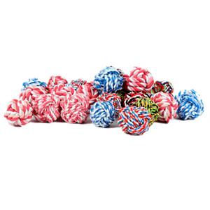 jouets pour animaux mordre fournitures pour animaux de jouets molaires mordent résistant jouet pour chien corde de coton résistant à l'usure de la balle chew 3size T2I5924
