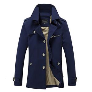 Casual Trench Coat vento disjuntor Moda da marca New Men Tamanho Casual Pull Trench For Men Designer Além disso Homme Outwear 5XL AF1306 CJ191128