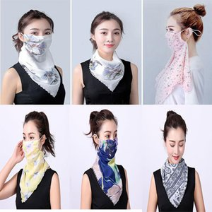 Temperament neck breathable mask new spring and summer anti-UV chiffon thin veil sunscreen multi-function large mask scarf DA467