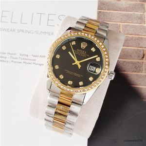 relogio mode montres femmes mens diamant masculino or cadran or Calendrier Bracelet boucle déployante cadeaux principale fille 2020 couples