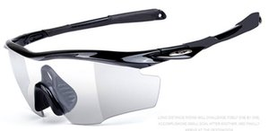 5pcs set Photochromic Cycling Glasses Bike Bicycle Eyewear Men Women Outdoor Sport MTB Sunglasses Goggles Myopia Frame