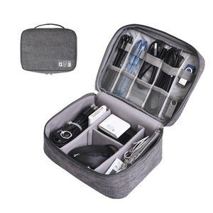 Portable Digital Storage Bags USB Gadgets Cables Wires Charger Power Battery Organizer Zipper Cosmetic Bag Case Accessories Item