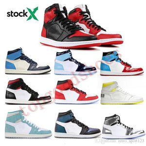 7339044 1 High Travis Scotts High Fearless Obsidian Mens Basketball Shoes Spiderman UNC 1s top 3 Banned Bred Toe Women Sport Shoe