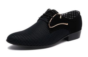 Vente chaude-Mens De Luxe Derby Chaussures Hommes Oxfords Plates Casual Slip-On Robe De Mariage En Cuir Chaussures Chaussures Mâle Affaires Chaussures Plus La Taille 46