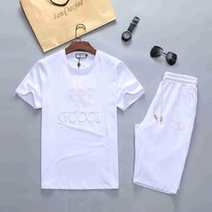 Homens camisetas de grife e Shorts terno Marca Fatos homens mulheres vestuário Set Hot Venda Moda Verão