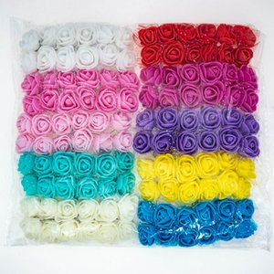 120pcs lot Mix Color Foam Roses Artificial Flowers Fake Rose 2cm Small Flowers For Craft Home Decor For DIY Bouquet