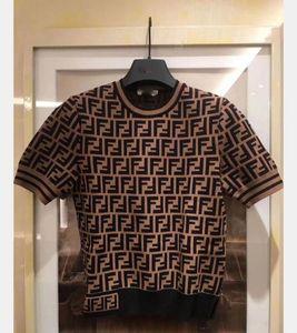 T-shirt mangas curtas 2020 As mulheres de Verão tricô estilo de moda soltas camisetas simples transporte livre