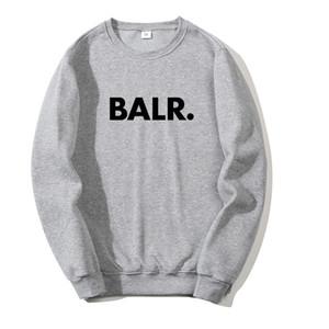 2020 BALR New Pull de sweat à capuche hommes Vêtements pour femmes Top Automne Designer Couleur Gris Sweat Hoodies Noir Rouge asiatique Taille S-3XL