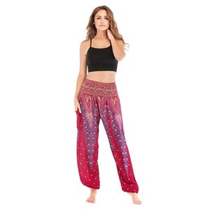 Femmes Yoga Pantalons Pantalettes Imprimé Casual en vrac Sport Femme Fitness Pantalons athlétique