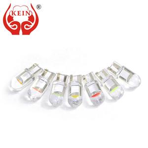 KEIN 10PCS T10 W5W 자동차 주도 BluB 효소 (194) (168) 악기 대시 라이트 COB 칩 읽기 문 돔 램프 번호판 통로 자동차 부품