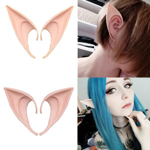 1 paio = 2 pezzi misterioso angelo orecchie da elfo fata accessori cosplay halloween festa di natale in lattice punte a punta morbida puntine di orecchie false 10 cm 12 cm
