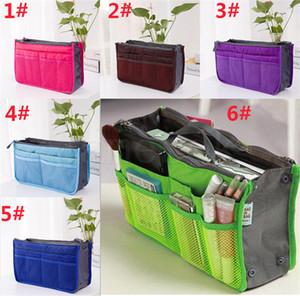 12 style Portable Organizer Handbag Foldable Double Zipper Travel Storage Holder Cosmetics Suitcase Pouch dc779