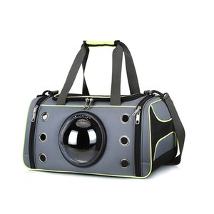 Hot New Oxford Cloth Dog Bag Pet Carrier Aslant Bag Space Capsule Dog Carrier Mesh Transparent Cover Pet Handbag for Outdoors H