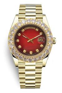B250 마스터 디자인 디자이너는 럭셔리는 운동 시계, 금 스테인레스 스틸 케이스, 다이아몬드 반지를보고 시계, 43MM 표범 레드 다이얼, DIAM