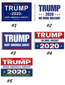 vendita calda Trump 2020 Flag 5 stili Donald Bandiere Keep America Great Again poliestere decorazione Banner Per il presidente USA