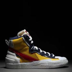 nike Sacai  Blazer Mid ile Dunk Erkek Tasarımcı Ayakkabı Yüksek Beyaz Siyah Legend Mavi Kar Sahil Casual Erkek Ayakkabı 5 çalıştıran
