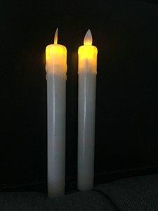 10pcs Sallanan Wax Wick Dans Alev Led Konik sopa mum lamba Ev Düğün Noel Bar partisi Kilisesi Dekor 21cm Hareketli Daldırma (H) Y200109