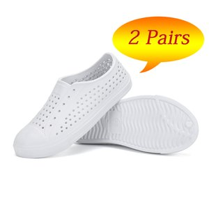 2 Pairs Boys Girls Shoes Summer Kids Shoes Beach Sandals Children River Clogs Casual Flat Shoes Outdoor Sneakers tenis infantil