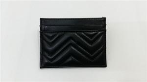 carte borsa delle donne di moda famosi classici vende vendita superiore titolari di carta Marmont vera pelle di lusso raccoglitore zero più colore con la scatola originale
