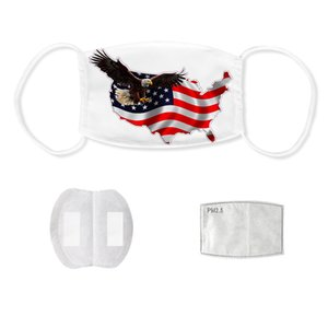 American National Flag Mask 13 Styles 3D Printed Washable Anti Dust Haze PM2.5 Outdoor Cycling Face Masks