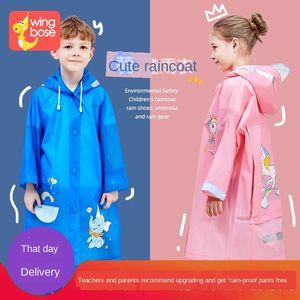 Aiincoat Cloak Poncho Belt School Suit Aiincoat Assessuale Pupilla Borsa A Kindergarten Boy Cloak Bambini Bobng