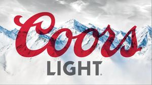 150см * 90см Coors Light Beer Flag Banner 3 * 5FT полиэстер Пользовательские висячие дома декоративные