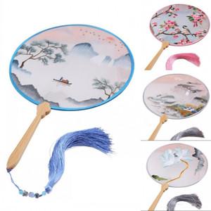 Stile cinese Palazzo del ricamo Fans lusso mano ventilatore tenuto per il partito di evento per nozze di seta della decorazione Fans 51 Styles