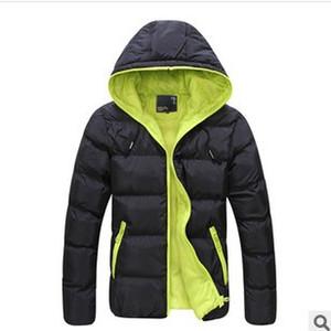 4XL Men Winter Casual New Hooded Thick Padded Jacket Zipper Slim Men And Women Coats Parka Outwear Warm