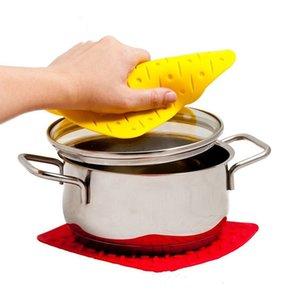 Anti Scalding Pads Silikon-Nahrungsmittelmatte Pads Grad Meal Mats Anti Hitzebeständige Speise Tischset Pads 7 Farben Kitchen Tools LDH202