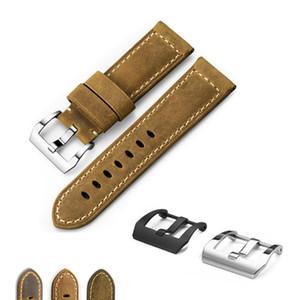 Pelle di vitello genuina Cinturino Bracciale cinturini Assolutamente Brown cinturino per Pane rai 22 millimetri 24 millimetri 26 millimetri