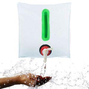 20L PVC Plastik Katlanır Kova Yüksek Kapasiteli Şeffaf Katlama Su Torbası Açık Kamp Içme Çanta Yeni Varış 10gt L1
